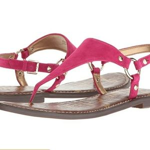 Sam Edelman Leather Greta Pink Sandal